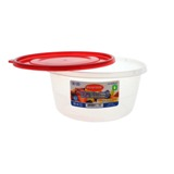 9 Cup Round Plastic Storage Container - 1