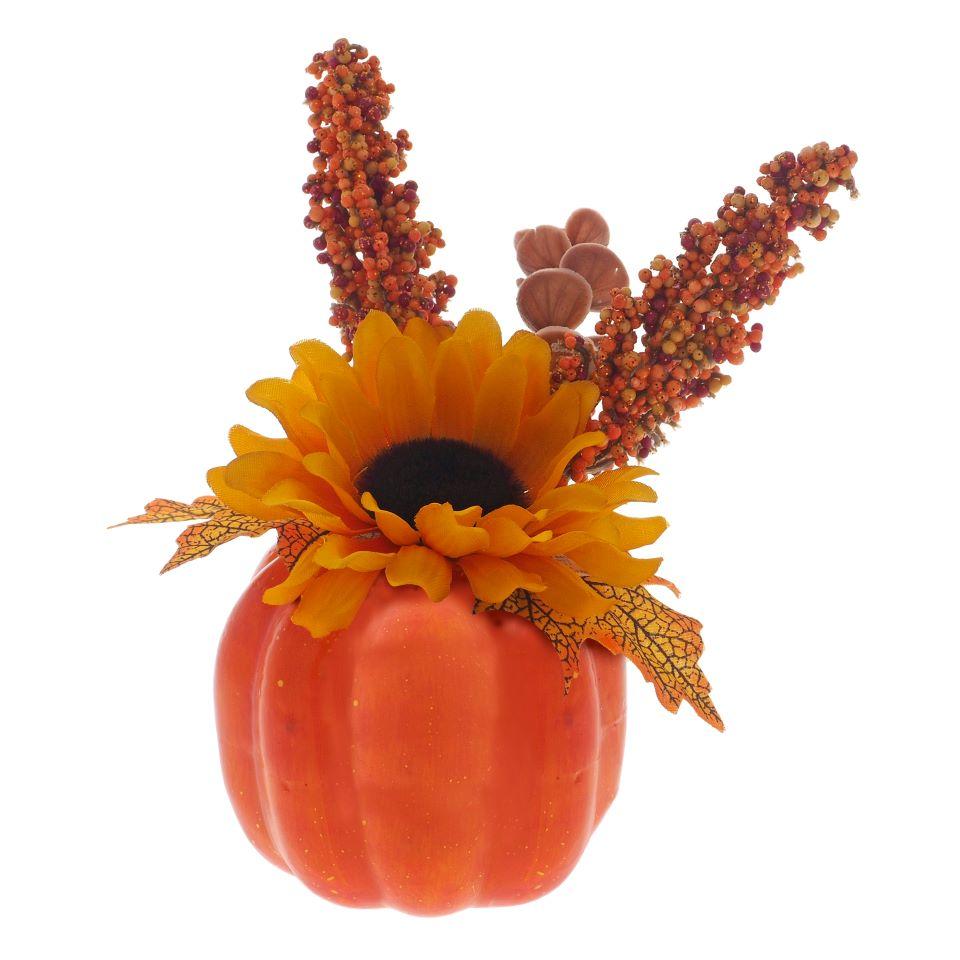 Citrouille de l'Halloween avec fleur