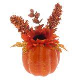 Citrouille de l'Halloween avec fleur - 1