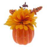 Citrouille de l'Halloween avec fleur - 2