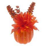 Citrouille de l'Halloween avec fleur - 3