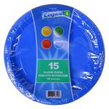 Plastic Dinner Plates 15PK (Assorted Colours) - 0