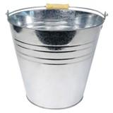 Tin Bucket with Wood Handle - 0