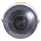 Tin Bucket with Wood Handle - 1