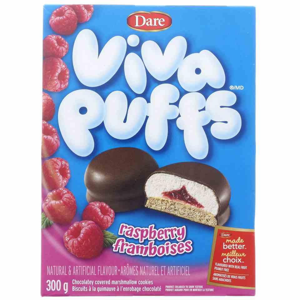 Viva Puffs Raspberry Cookies