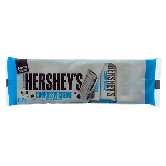 HERSHEY'S Cookies 'n' Creme Mini Chocolate Bars 10PK