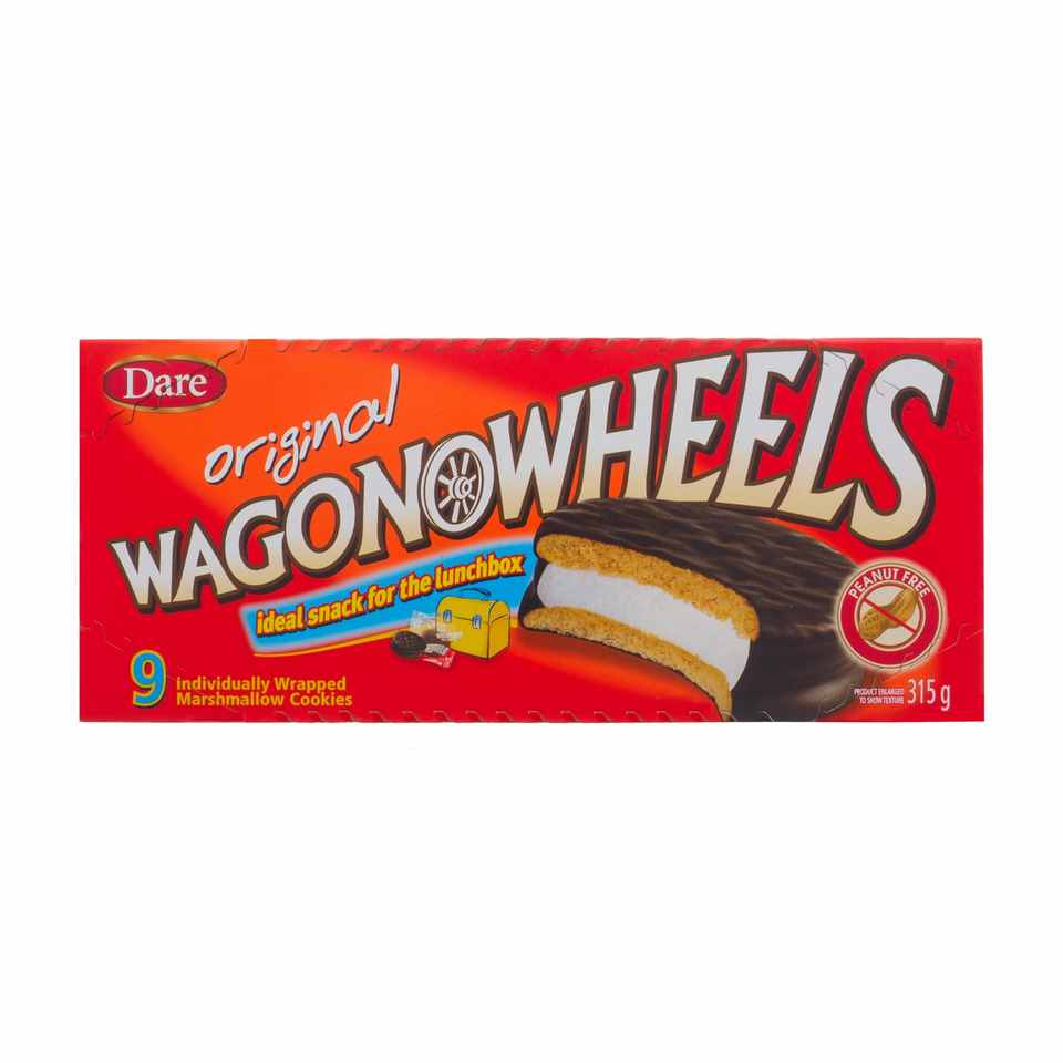 9 Biscuits à la guimauve WAGON WHEELS original