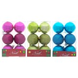 Tree Ball non Breakable 6PK (Assorted Colours and Patterns) - 1