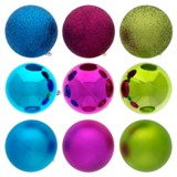 Tree Ball non Breakable 6PK (Assorted Colours and Patterns) - 2