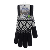 Men's Jacquard Gloves with Brushed Interior - 0