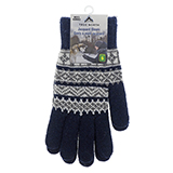 Men's Jacquard Gloves with Brushed Interior - 1