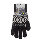 Men's Jacquard Gloves with Brushed Interior - 2