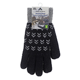Men's Jacquard Gloves with Brushed Interior - 3