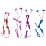 Stereo Earbuds with Detachable Microphone (Assorted Colours) - 1