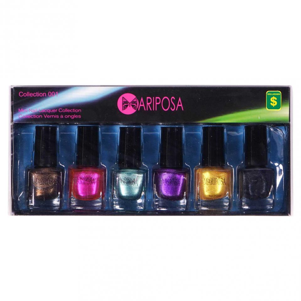 6PC Nail Polish Set (Assorted styles and colours)