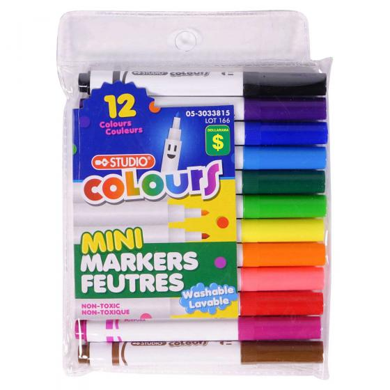 12PK Mini Marker set (Assorted colours)