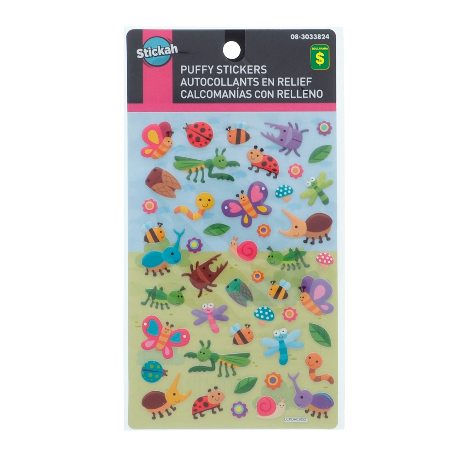 Puffy Stickers (Assorted Colours)