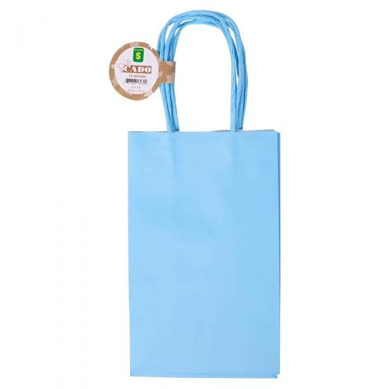 3PK Solid Colour Kraft Paper Bags (Assorted Colours)