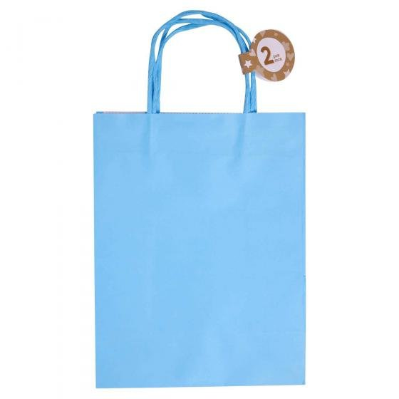 Solid Colour Kraft Paper Bags 2PK (Assorted Colours)