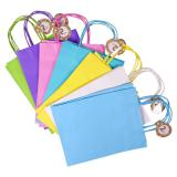 2PK Solid Colour Kraft Paper Bags (Assorted colours) - 1