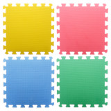 4PK Interlocking Play Mats (Assorted colours) - 1