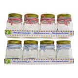 175 mL Glass Canning Jars 4PK (Assorted Colours) - 1