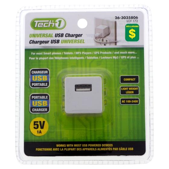 Adaptateur AC à USB universel