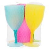 5PKPlastic Wine Glasses in Mesh Bag - 0