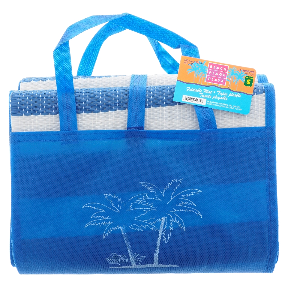 Folded Beach Mat with Handle