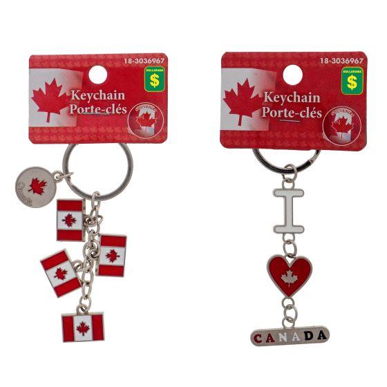 Canada Souvenir Metal Keychains