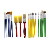 26PC Artist Brush Set (Assorted Shapes and Colours) - 1