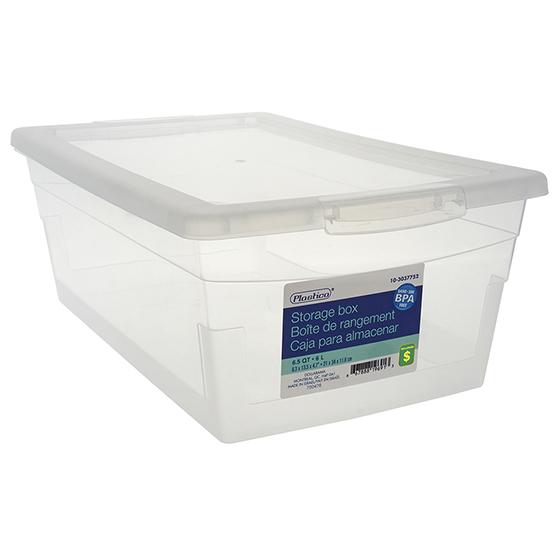 Boîte de rangement avec couvercle 6L