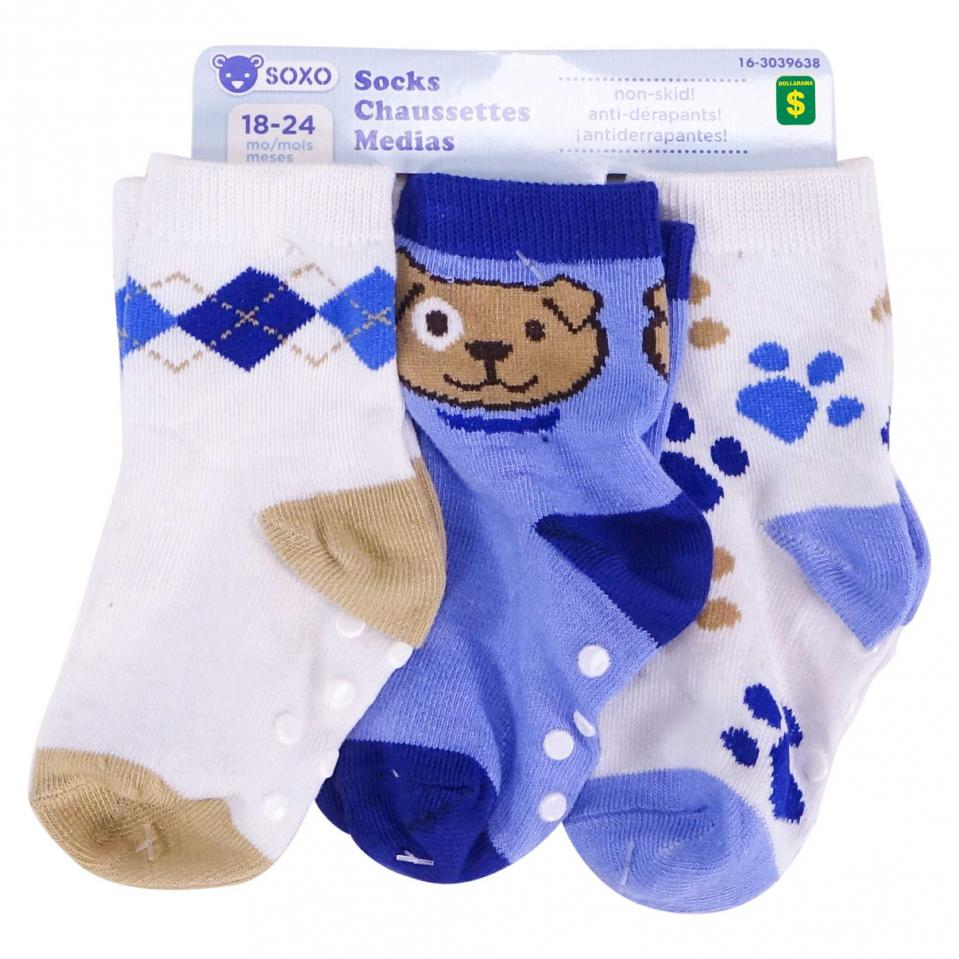 3PR Infant Socks (Assorted Patterns)