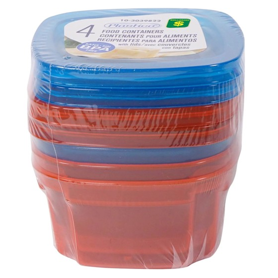 4PK Food Containers