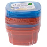 Food Containers 4PK (Assorted Colours) - 0