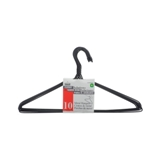 10PK Plastic coated Metal Hangers (Assorted Colours) - 0