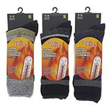 Men's brushed interior heat socks - 1