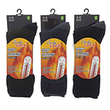 Men's brushed interior heat socks - 2