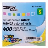 400 Self-Adhesive Notes (Assorted Colours) - 0