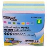 400 Self-Adhesive Notes (Assorted Colours) - 1