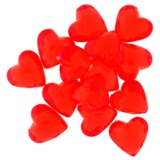 30PK Acrylic Red Hearts - 1