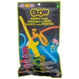 40PK Glow Party Pack (Assorted shapes and colours) - 0