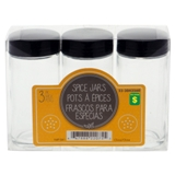 Glass Spice Jar 3PK (Assorted Colours) - 0