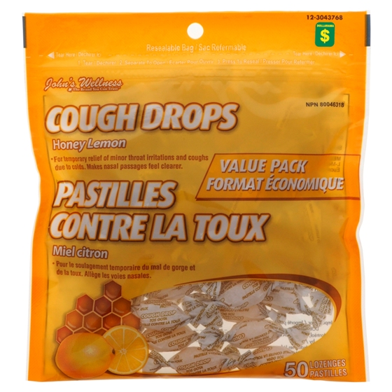 60PK Honey Lemon Cough Drops
