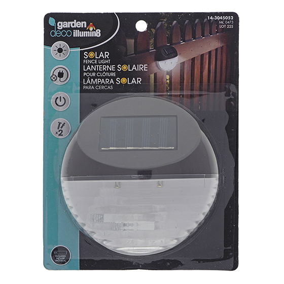 Curved Solar Light for Fence