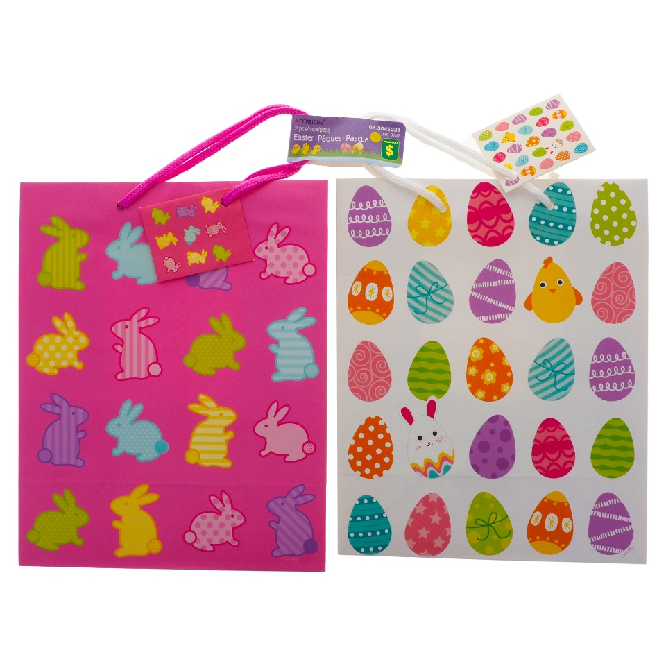 2PK Easter Bags (Assorted designs)