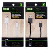 3' Charge and Sync USB to Micro USB Cable (Assorted colours) - 1