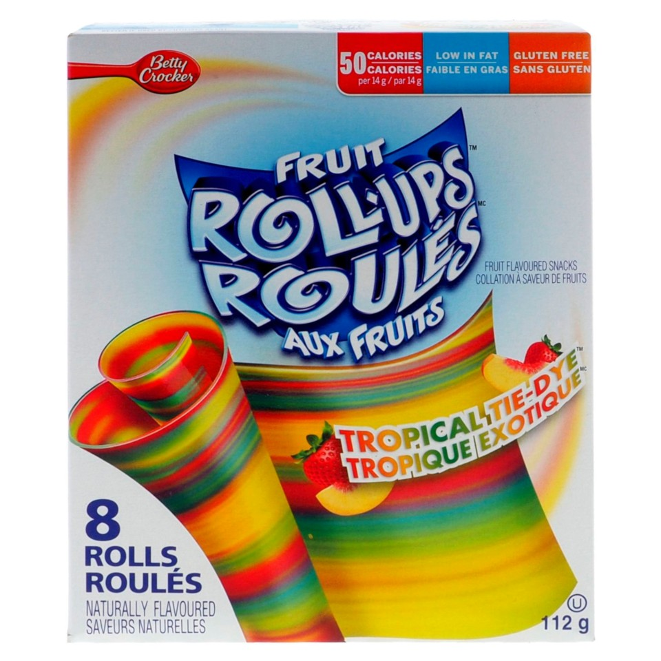 8PK Fruit Roll-Ups Tropical Tie-Dye