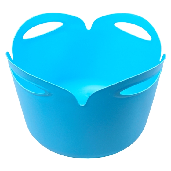 Round Pail With 4 Slotted Handles