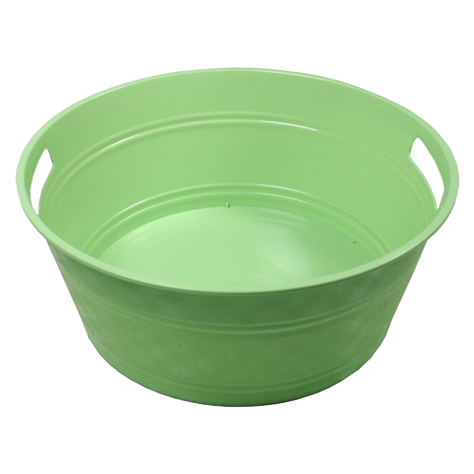 Large Round Plastic Tub With 2 Handles